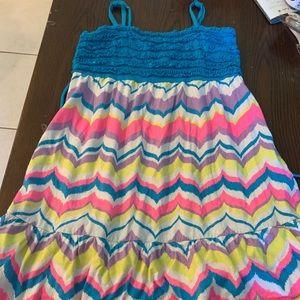 Justice girls size 14 tank top rainbow dress